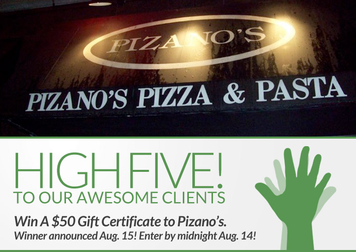 Pizanos pizza giveaway