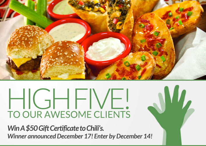 Chilis Giveaway