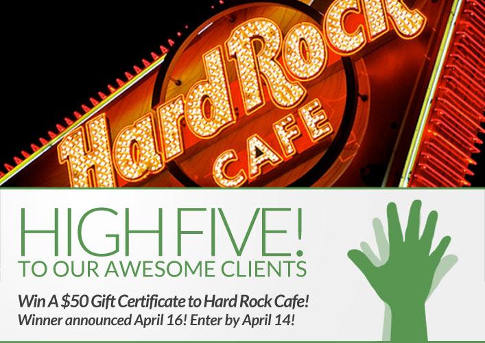 hard rock giveaway