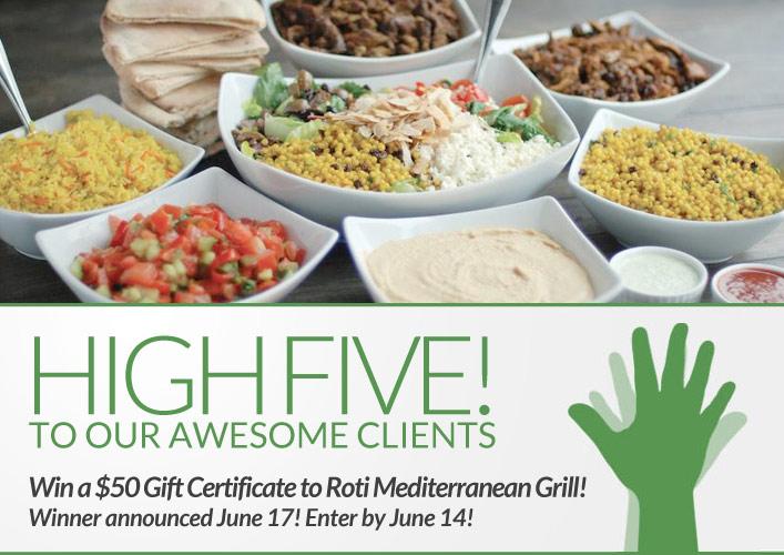 Roti Mediterranean Grill giveaway