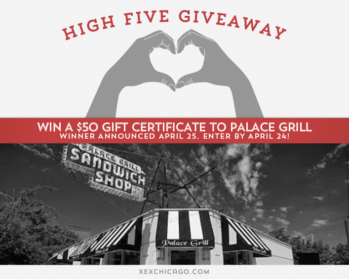 Palace Grill giveaway