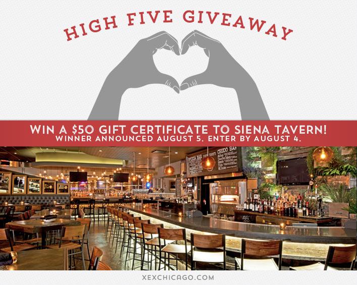 Siena Tavern Giveaway