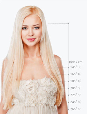 Hair Length Chart Front