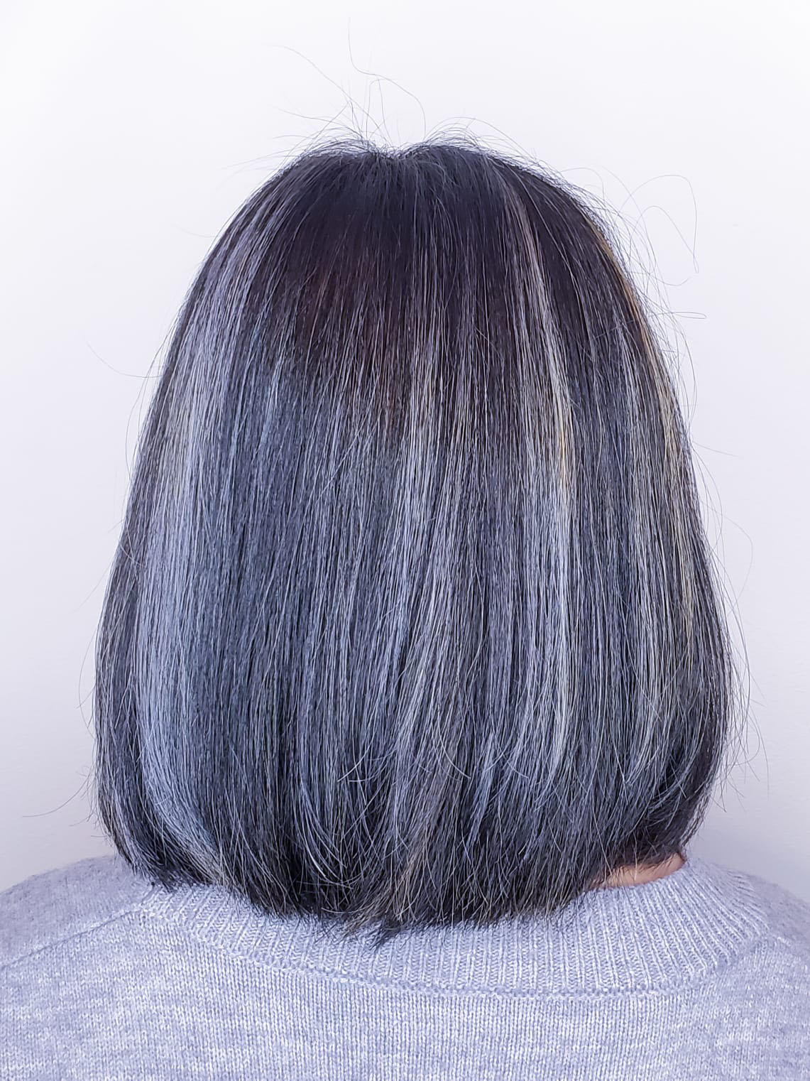silver-hair color-downtown chicago